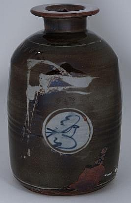 Tim Morris (1941-1990): A Bottle Vase the rounded