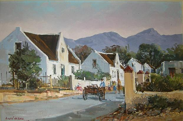 Andre de Beer (South African1933-) STREET SCENE