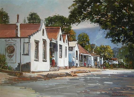 Andre de Beer (South African 1933-) STREET SCENE