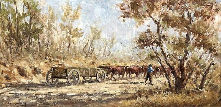 Gian-Piero Garizio (South African 1931-) OXWAGON