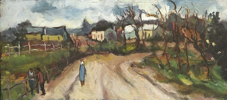 Kenneth Baker (South African 1931-1995) WALKING