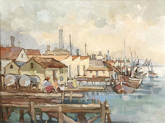 Kobus Louw (South African 20th Century) HARBOUR