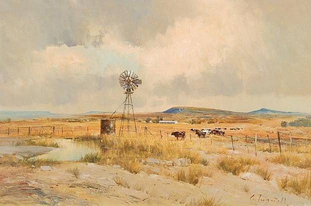 Christopher Tugwell (South African 1938-) COWS