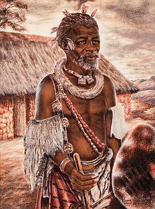 Mizraim Maseko (South African 1927-) A SWAZI