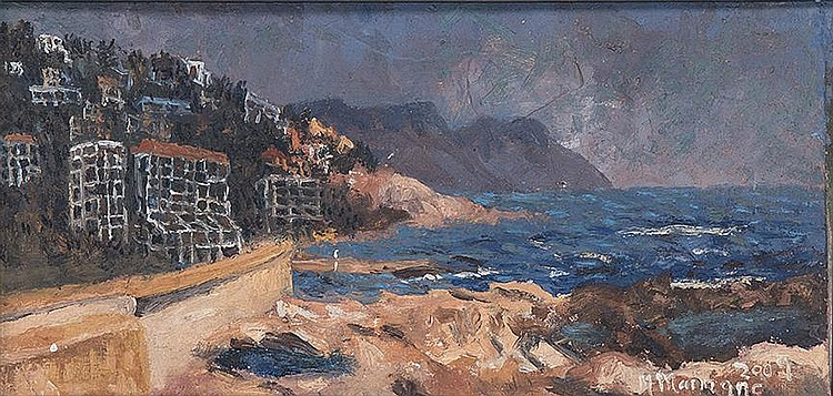 Michael Maimane (South African 1961-) SEA POINT signed and dated 2009; inscribed