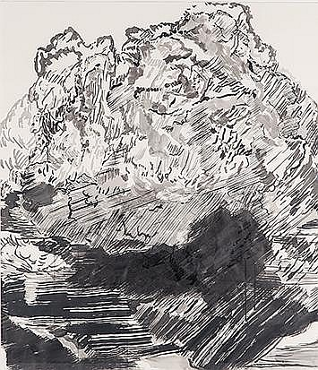 Robyn Penn (South African 1973-) TARRED AND FEATHERED signed ink on paper 89,5 by 77,5cm