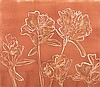 Bronwen Findlay (South African 1953-) INCA LILIES I monotype, signed, dated 2011, inscribed with the title and numbered 1/1 in pencil sheet size: 34 by 40cm, Bronwen Findlay, Click for value