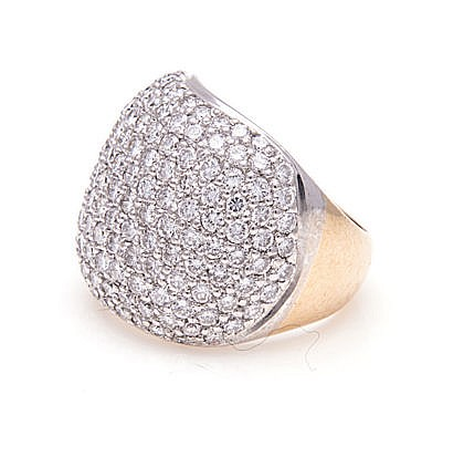 A DIAMOND CLUSTER RING, JENNA CLIFFORD pavé-set with round brilliant-cut di