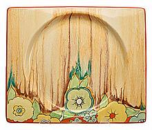 A CLARICE CLIFF 'DELECIA JONQUIL' PATTERN PLATE, 1