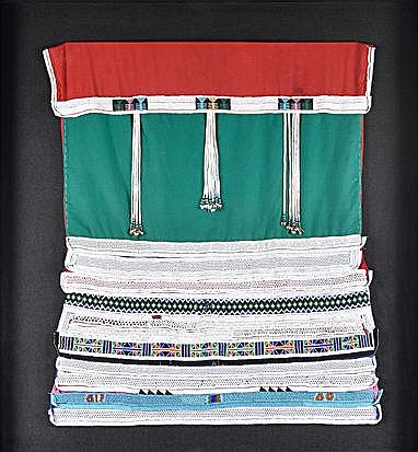 A BEADED ZULU BLANKET the blanket beaded in geomet