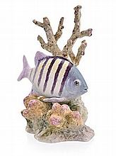 A ROYAL WORCESTER FIGURE OF A FISH 'SERGEANT MAJOR
