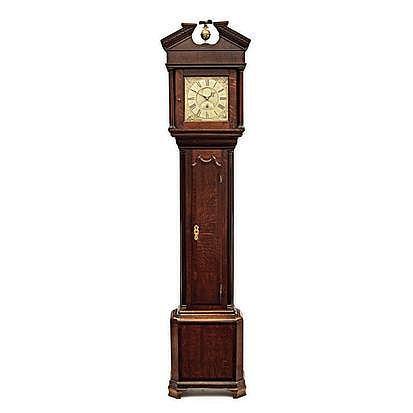 AN ENGLISH MAHOGANY 24 HOUR LONGCASE CLOCK, JO HAR