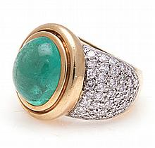 AN EMERALD AND DIAMOND DRESS RING, JENNA CLIFFORD