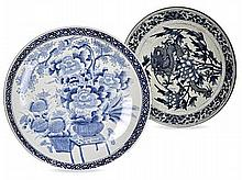 A CHINESE BLUE AND WHITE CHARGER, 20TH CENTURY pai