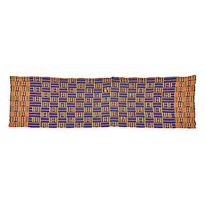 A KENTE CLOTH, GHANA the bolt of fabric approximat