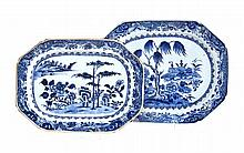 A CHINESE BLUE AND WHITE PLATTER, QIANLONG, 1736-1