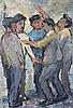 Kenneth Baker (South African 1931-1995) FIVE MEN I, Kenneth  Baker, R6,000
