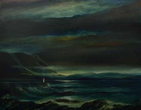 John Stein (South African 1942-) KALK BAY LIGHTHOU