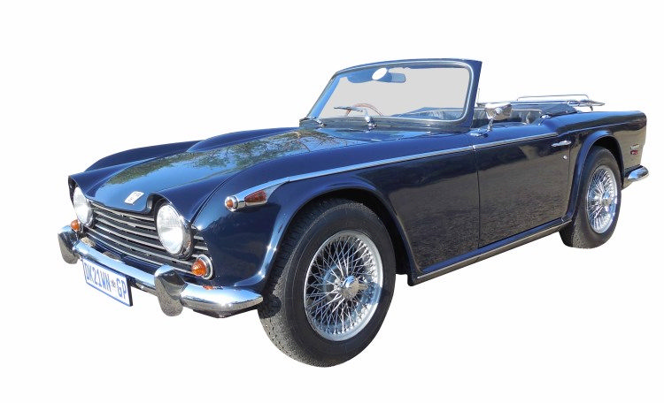 a 1968 triumph tr5 p1 colour dark navy blue with black leat. Black Bedroom Furniture Sets. Home Design Ideas