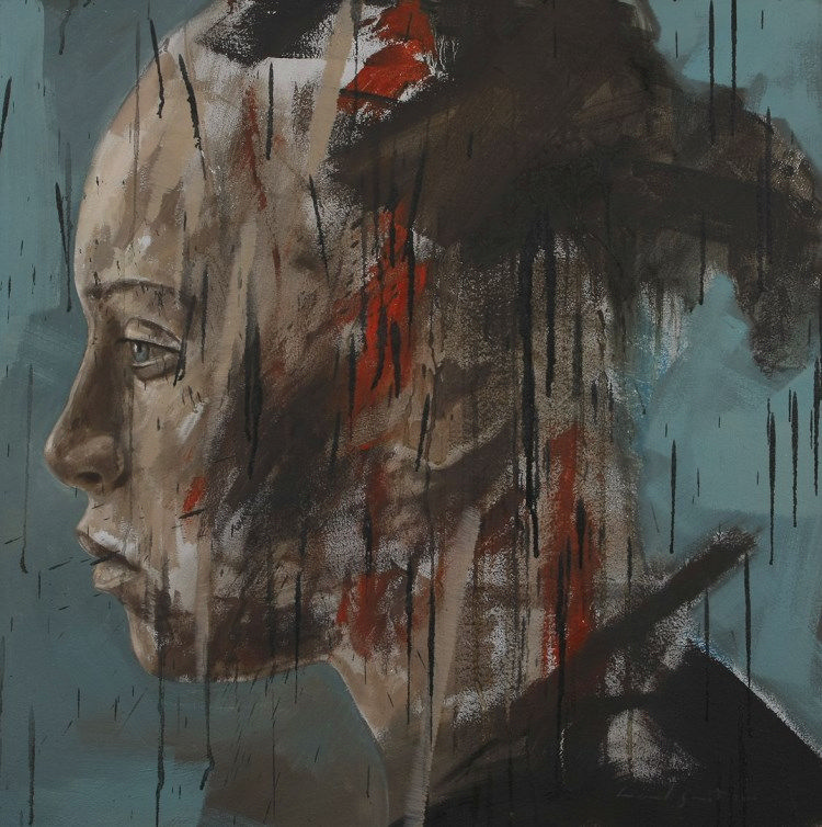 Lionel Smit (South African 1982 -) RESIDUE signed and dated 2010 oil on canvas 80 by 80cm