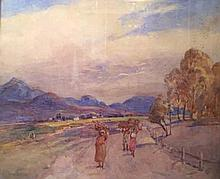 Constance Penstone (South African 1865-1928) THE ROAD TO GEORGE signed, inscribed with the title on