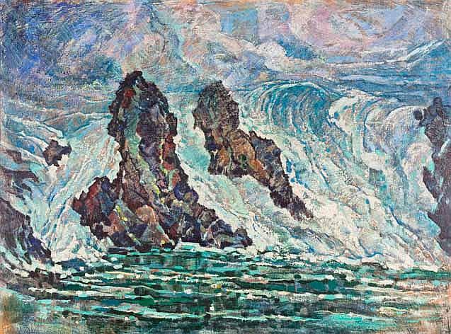 Johannes Blatt (South African 1905-1972) WAVES inscribed wit