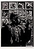 Zolani Siphungela (South African 1986 -) PETER CLARKE woodcut, signed, date, Zolani Siphungela, Click for value