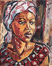 Hennie Niemann Jnr (South African 1972-) PORTRAIT OF A WOMAN II signed and
