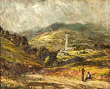Edward Roworth (South African 1880-1964) HATHERSAGE, DERBYSHIRE signed; ins