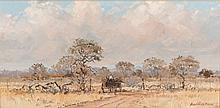 Andre de Beer (South African 1933-) CART ON A COUNTRY ROAD signed and dated