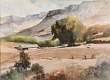 Jocelyn Boyley (South African 1932-) LANDSCAPE signed watercolour on paper