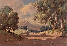 Johan (Johannes) Oldert (South African 1912-1984) COUNTRY ROAD signed oil o