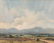 Marge Maggs (South African 1940-) EXPANSIVE LANDSCAPE signed oil on canvas