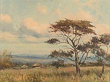 Christopher Tugwell (South African 1938-) HIGHVELD LANDSCAPE signed oil on