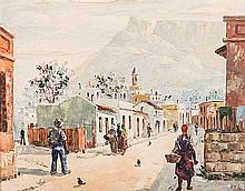 Adelio Zagni Zeelie (South African 1911-1991) CAPE STREET SCENE signed, dat