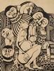 Malangatana Ngwenya (Mozambican 1936-2011) FIGURES signed and dated 97 ink,  Malangatana, R20,000