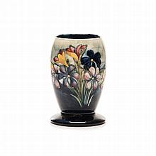 A WILLIAM MOORCROFT ''SPRING FLOWERS'' PATTERN VASE, CIRCA 1936 of tapering