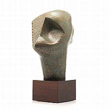 Edoardo Villa (South African 1915-2011) HEAD III signed, dated 2006 and num