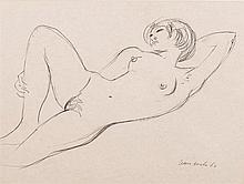 Maurice Charles Louis van Essche (South African 1906-1977) RECLINING NUDE s