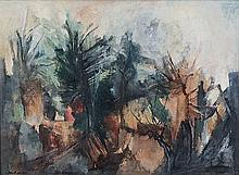 Paul du Toit (South African 1922-1986) ABSTRACT TREES signed oil on canvas