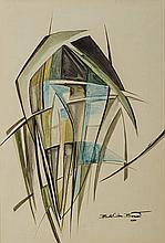 Bettie Cilliers-Barnard (South African 1914-2010) ABSTRACT COMPOSITION sign