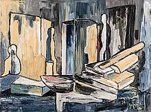 Myrza Gilliot (South African 20th Century-) AFTERMATH signed and dated 8/14