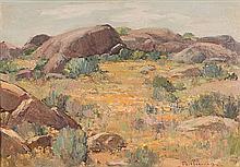 Piet van Heerden (South African 1917-1991) NAMAQUALAND signed oil on canvas
