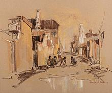 Andre de Beer (South African 1933-) DISTRICT SIX signed and dated '76 paste