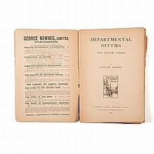 Kipling, Rudyard DEPARTMENTAL DITTIES AND OTHER VERSES London: George Newne