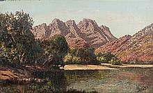 Tinus (Marthinus Johannes)  de Jongh (South African 1885-1942) AT THE WATER