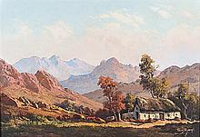 Tinus (Marthinus Johannes)  de Jongh (South African 1885-1942) HOUSE IN A M