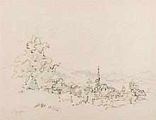 Gregoire Johannes Boonzaier (South African 1909-2005) LANDSCAPE WITH TREES