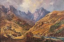 Gabriel Cornelis de Jongh (South African 1913-2004) MONKS COWL, DRAKENSBERG