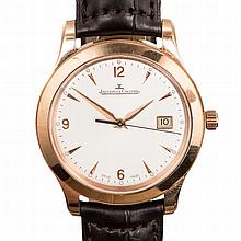 A GENTLEMAN'S 18CT ROSE GOLD WRISTWATCH, JAEGER-LECOULTRE MASTER CONTROL re